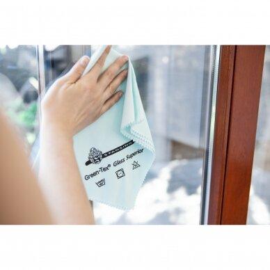 Green-Tex Glass Superior stiklų ir veidrodžių šluostė pakuotė 5 vnt. 2