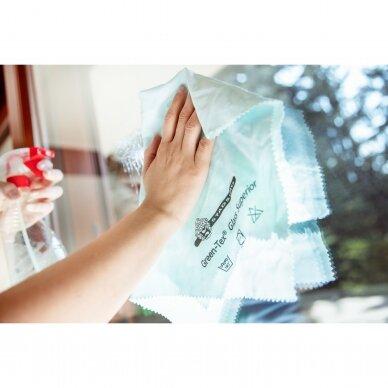 Green-Tex Glass Superior stiklų ir veidrodžių šluostė pakuotė 5 vnt. 3
